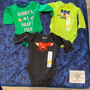 3 Baby Boy onesies NWT. Size 9 months